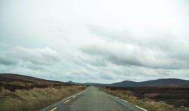 失去的路在Connemara 图库摄影