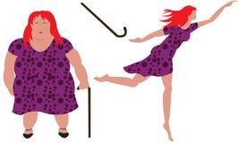 失去的重量妇女 免版税库存图片
