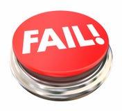 失败红色按钮新闻光拒绝失败 库存例证