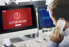 失败被攻击的被乱砍的病毒不正常结尾概念 免版税库存图片