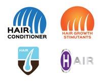 头发商标集合, 4发型 皇族释放例证