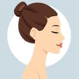 头发小圆面包发型 向量例证