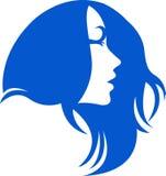 头发徽标妇女 向量例证