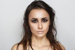 头发湿妇女 免版税图库摄影
