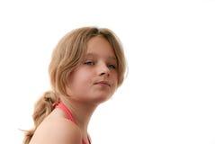 头发白肤金发的女孩 图库摄影