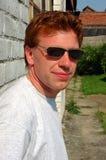 头发的人红色 免版税图库摄影