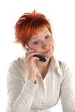 头发的红色妇女 免版税库存照片