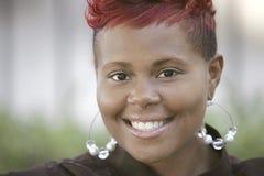 头发的红色妇女 图库摄影