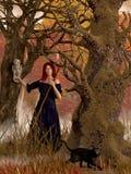 头发的红色巫婆 向量例证