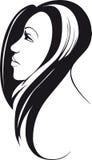 头发的长的妇女 免版税库存图片