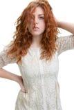 头发红色妇女年轻人 图库摄影