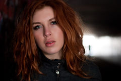 头发红色妇女 免版税图库摄影