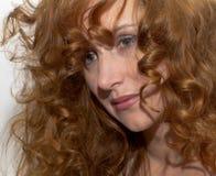 头发红色妇女 图库摄影