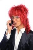 头发红色秘书妇女 免版税库存照片