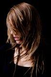 头发纵向样式妇女 免版税库存图片