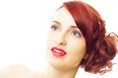 头发纵向红色 免版税库存图片