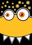 头昏眼花的黄色妖怪当事人邀请看板卡 向量例证