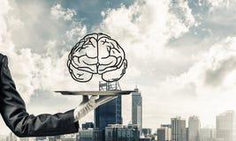 头脑能力发展的概念 免版税库存图片