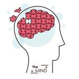 头脑难题曲线锯的问题脑子 免版税库存图片