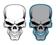 头骨的向量例证 毒物标志 免版税库存照片