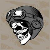 头骨盔甲手图画传染媒介 库存例证