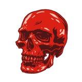 头骨红色拷贝光滑的样式 免版税库存图片