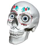 头骨纹身花刺墨西哥裔美国人 3d翻译 库存照片