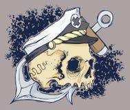 头骨顶头传染媒介文件 皇族释放例证