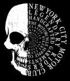 头骨T恤杉图形设计 库存例证