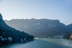 夷陵长江三峡Dengying峡谷 库存照片