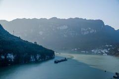 夷陵长江三峡Dengying峡谷 免版税库存照片