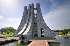 夸梅・恩克鲁玛纪念公园-阿克拉,加纳 图库摄影