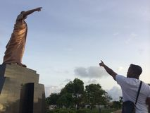 夸梅・恩克鲁玛雕象,阿克拉加纳 免版税库存照片