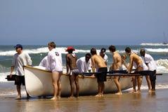 夸祖鲁纳塔尔救生员挑战事件 库存照片