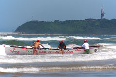 夸祖鲁纳塔尔救生员挑战事件 免版税库存照片
