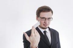 夹克的人 免版税图库摄影