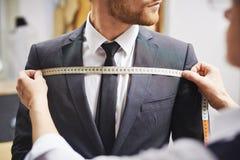 夹克测量的前面  免版税库存照片