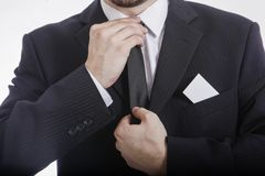 在夹克的Bussinesman 免版税库存图片