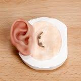 夹子关闭人为人的耳朵 免版税库存图片