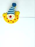 夹子小丑愉快的纸张 库存图片