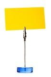 夹子纸黄色 图库摄影