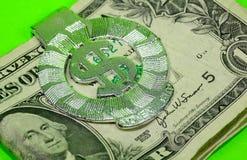 夹子货币 免版税图库摄影