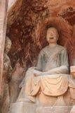 夹江一千菩萨峭壁在四川,瓷 图库摄影