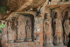 夹江一千菩萨峭壁在四川,瓷 免版税库存图片