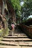 夹江一千菩萨峭壁在四川,瓷 免版税图库摄影
