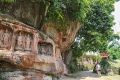 夹江一千菩萨峭壁在四川,瓷 库存图片