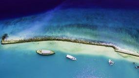 夺取港口在马尔代夫 免版税图库摄影