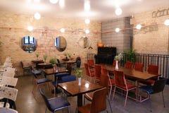 夺取设计想法时髦咖啡馆或餐馆,因为酒吧 免版税库存图片