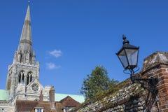 奇切斯特大教堂在苏克塞斯 免版税图库摄影