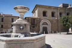 奇塔杜卡莱意大利列蒂,意大利:大广场 库存图片